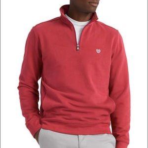 Chaps Men's 1/4 Zip Fleece Knit Coral Pullover